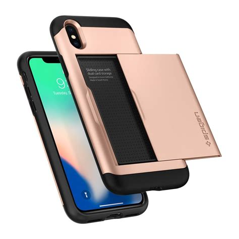Spigen Tough Armor Apple Iphone X Blush Gold spigen slim armor cs skal till iphone x blush gold themobilestore