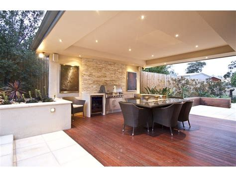 outdoor area walled outdoor living design with bbq area decorative