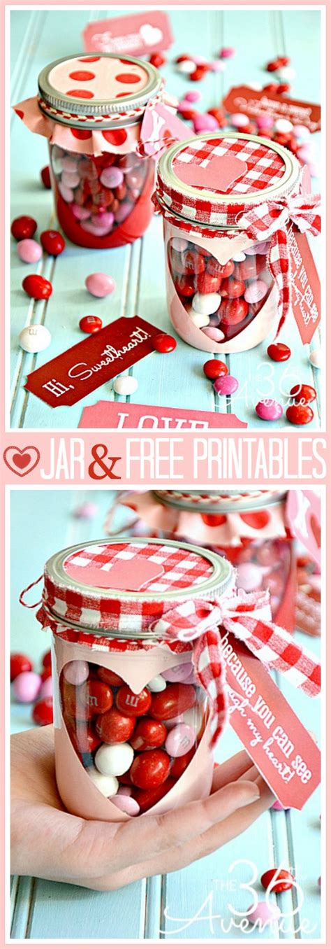 adorable valentine gift ideas the 36th avenue free valentine printable and heart candy jar the 36th avenue