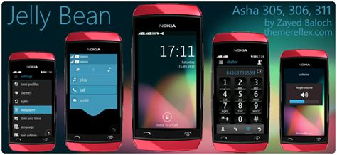 nokia asha 311 new latest themes jelly bean theme for nokia asha 305 306 3011 and full