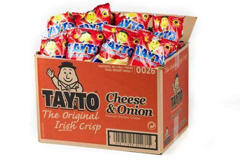 tayto car tayto cheese box 37gx40 cheese ireland and onions