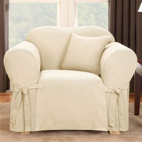small chair slipcover sure fit slipcovers logan chair slipcover atg stores