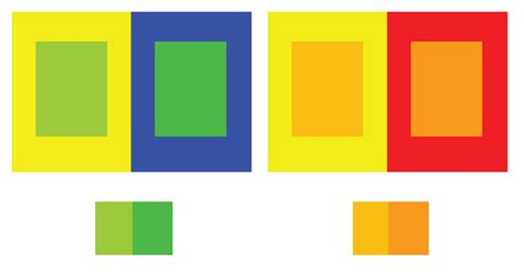 color contrast definition principles of graphic simultaneous contrast ex 2