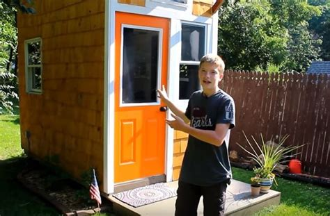 how to house a year how a 13 year built his own tiny house for 1 500