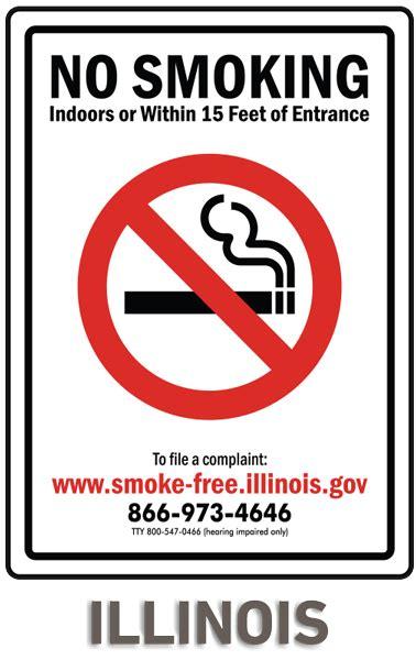 no smoking sign illinois illinois no smoking sign by safetysign com r5708