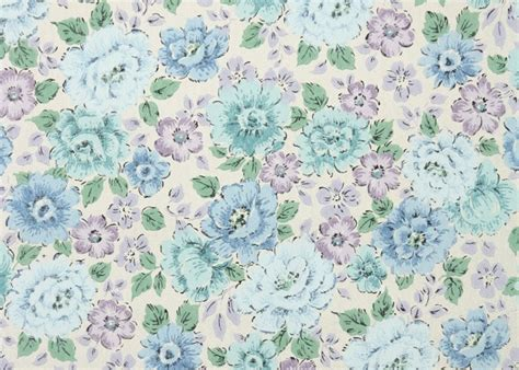 1960s Vintage Wallpaper By The Yard Floral Wallpaper Of Retro Blue Purple Design Backgrounds