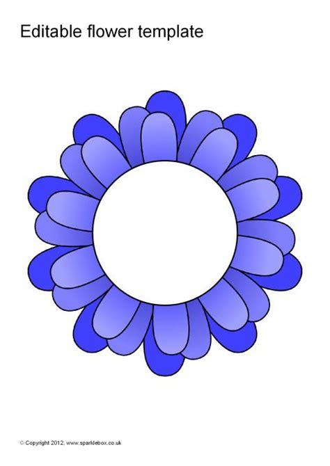 Editable Coloured Flower Templates Sb7066 Sparklebox Www Popupology Co Uk Templates