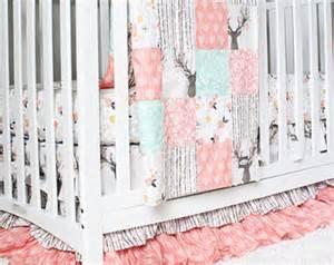 Girl crib bedding etsy