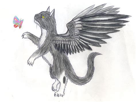 cute anime cat with wings drawings cat with wings by nazgul666 on deviantart