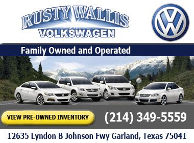 rusty wallis volkswagen volkswagen  car dealer service center dealership ratings