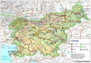 large detailed roads and tourist map of slovenia vidiani