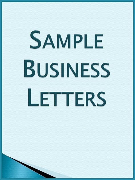 Business Letter Format Ppt Ppt Sle Business Letters Powerpoint Presentation Id 1654753
