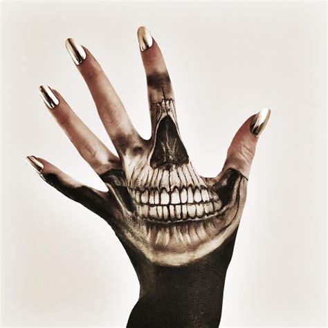 skull finger tattoos collection of 25 skull