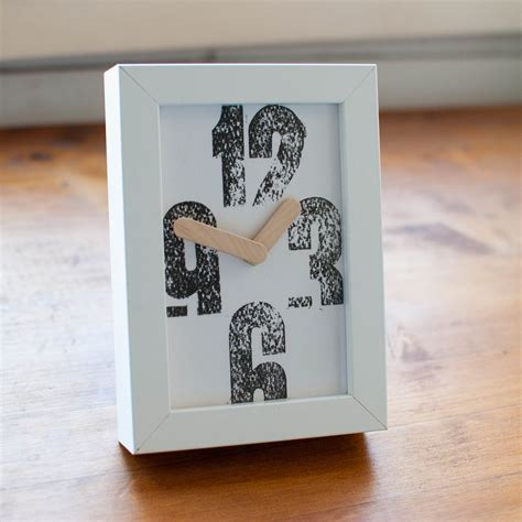 Handmade Home Decorations - rustic letterpress design clock 171 rustycity handmade