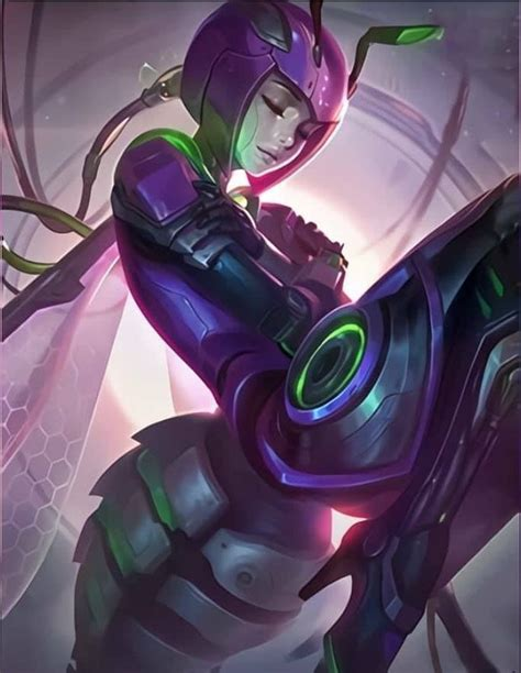 angela venom squad skin mobile legend wallpaper