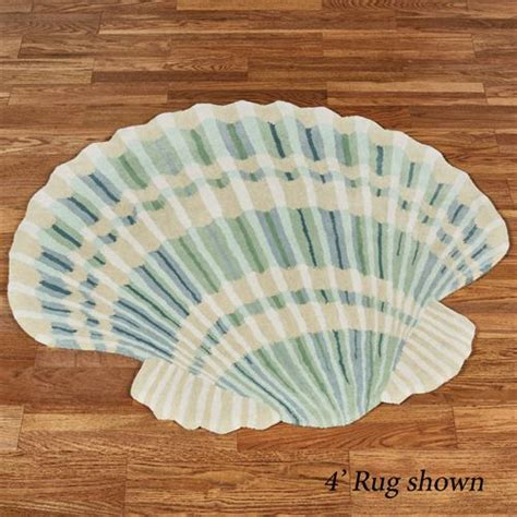 Seashell Bath Rug Clearwater Scallop Shell Shaped Rugs