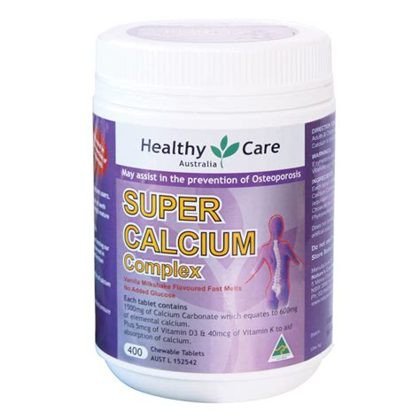 buy healthy care calcium vitamin d 400 tablets at chemist warehouse 174