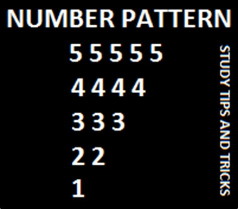 number pattern in c programming study tips and tricks write a c program to print the