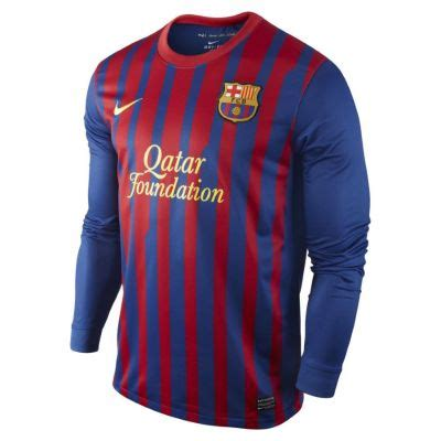 Jersey Barca Home Ls 11 12 barcelona home ls jersey wow jerseys shop cheap soccer jersey football shirt kit