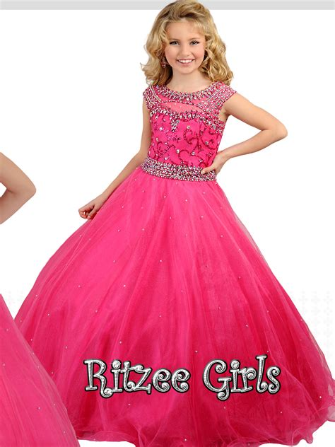 Pageant Dresses by Ritzee 7246 Tulle Skirt Pageant Gown Pageantdesigns