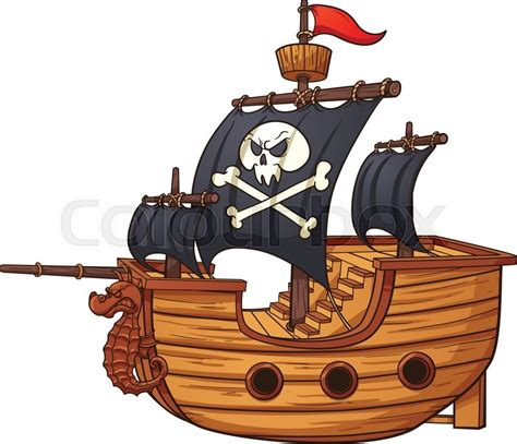 pirate ship clip pirate ship vector clip illustration with