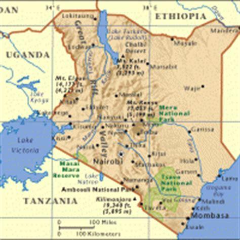 printable map kenya africa kenya general reference map