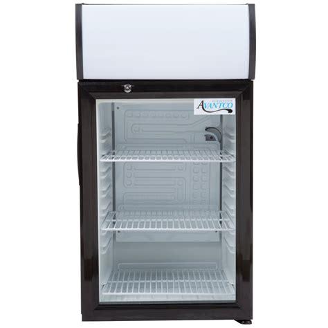 Countertop Refrigerator - avantco sc 52 black countertop display refrigerator with