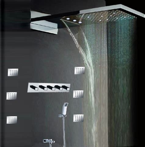 contemporary bathroom showers houzz modern rectangle showerhead contemporary led shower set silver modern showerheads and