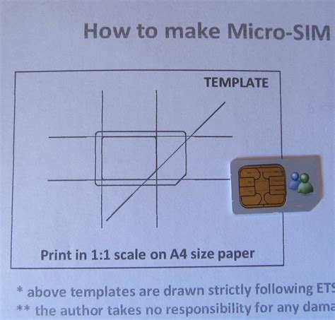 Micro Sim Card Template Iphone 5 by Nano Sim Template How To Make A Nano Sim From A Sim Free