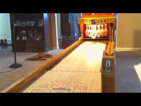 bowling shuffleboard table bowling alley