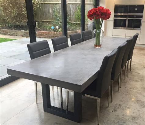 concrete dining room table polished concrete dining table bespoke handmade by