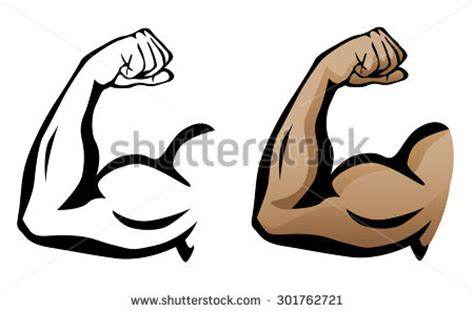 female athlete flexing her muscles stock photo | male