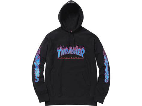 Hoodie Jket Supreme Navy supreme x thrasher hoodie 243972 from nrg at klekt