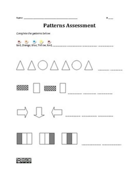 pattern math standard 29 best images about classroom kindergarten assessments