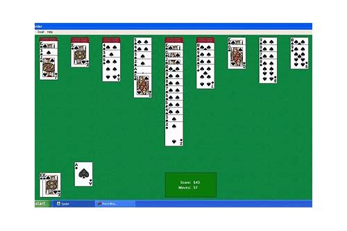 windows xp spider solitaire game free download