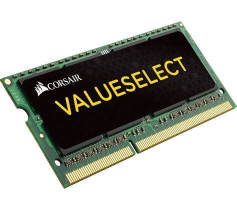 Ram Gb corsair valueselect cmso4gx3m1c1600c11 ddr3l laptop memory 4 gb sodimm ram deals pc world