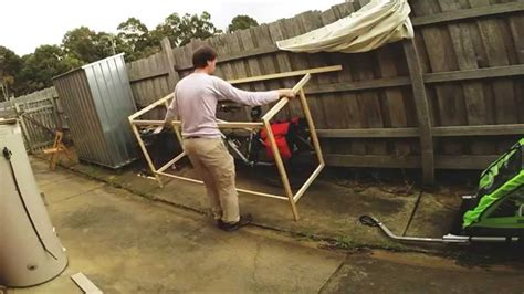 Outdoor Sheds Plans by Building Lightweight Bike Shed Youtube