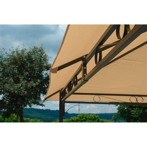 Metall Pavillon 3x4m by Gartenpavillon Metallpavillon 3x4 Meter Beige