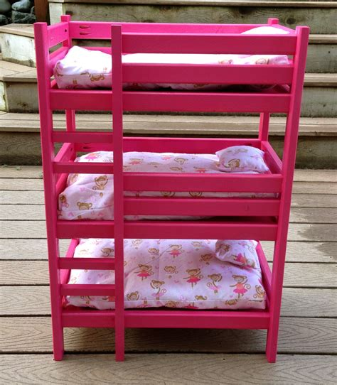 beds for dolls ana white triple doll bunk bed diy projects