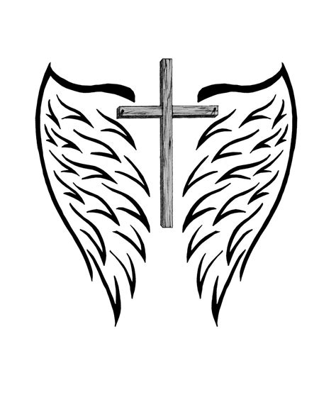 beautiful crosses with wings www imgkid com the image