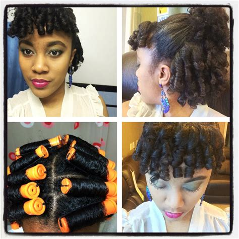 how to do a perm rod set on short relaxed hair perm rod set by nknaturals
