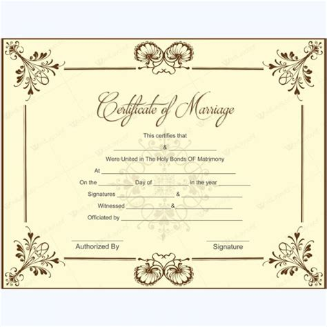 wedding certificate templates 20 best printable marriage certificates images on