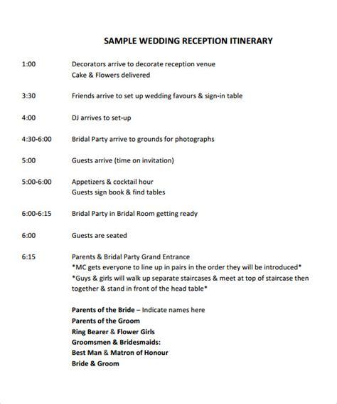 wedding program template exles sle wedding 10 documents in pdf