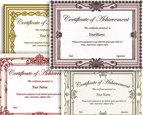 certificate border vector set 2 vector photoshop
