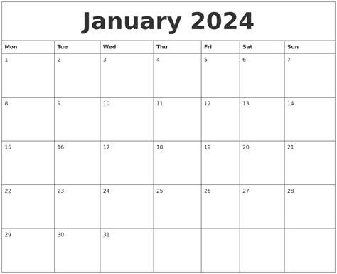 Calendar Layout Pdf January 2024 Calendar Layout