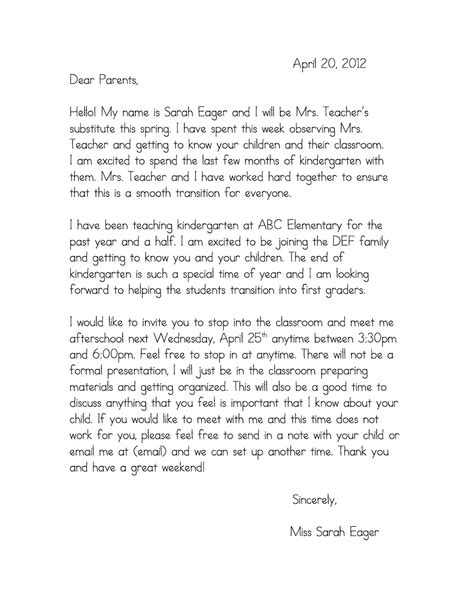Introduction Letter Preschool best photos of preschool introduction letter to