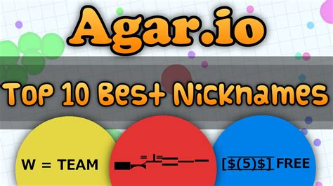 best nicknames agar io top 10 of the best nicknames the smartest agar