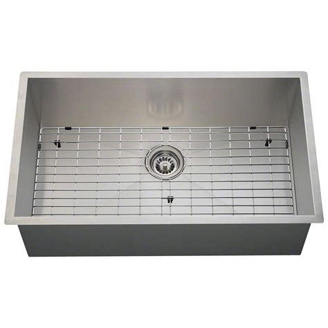 home depot stainless steel sinks vigo undermount stainless steel 32 in single bowl kitchen