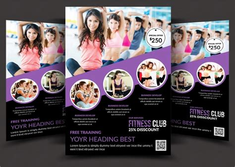 fitness flyer templates word psd ai publisher