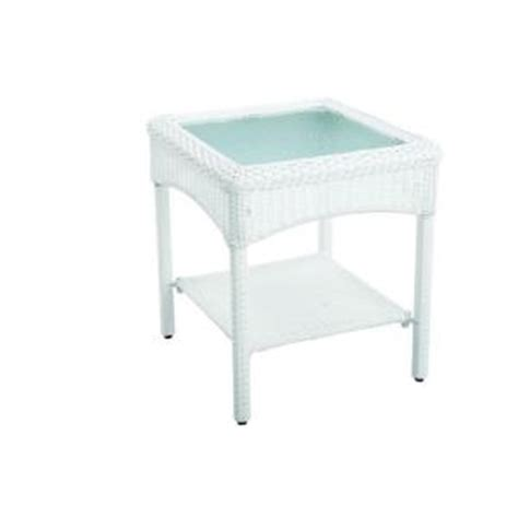 Home Depot Patio Accent Tables Martha Stewart Living Charlottetown White All Weather